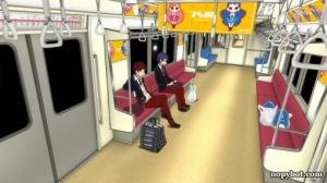 Hahmot siirtyvät metrolla paikasta toiseen.