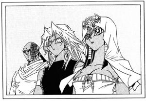 Ishtarin perhe on jälleen koossa. Kuvassa oikealta vasemmalle: Isis, Malik ja Rishid.